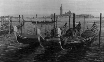 Three Gondolas, Venice